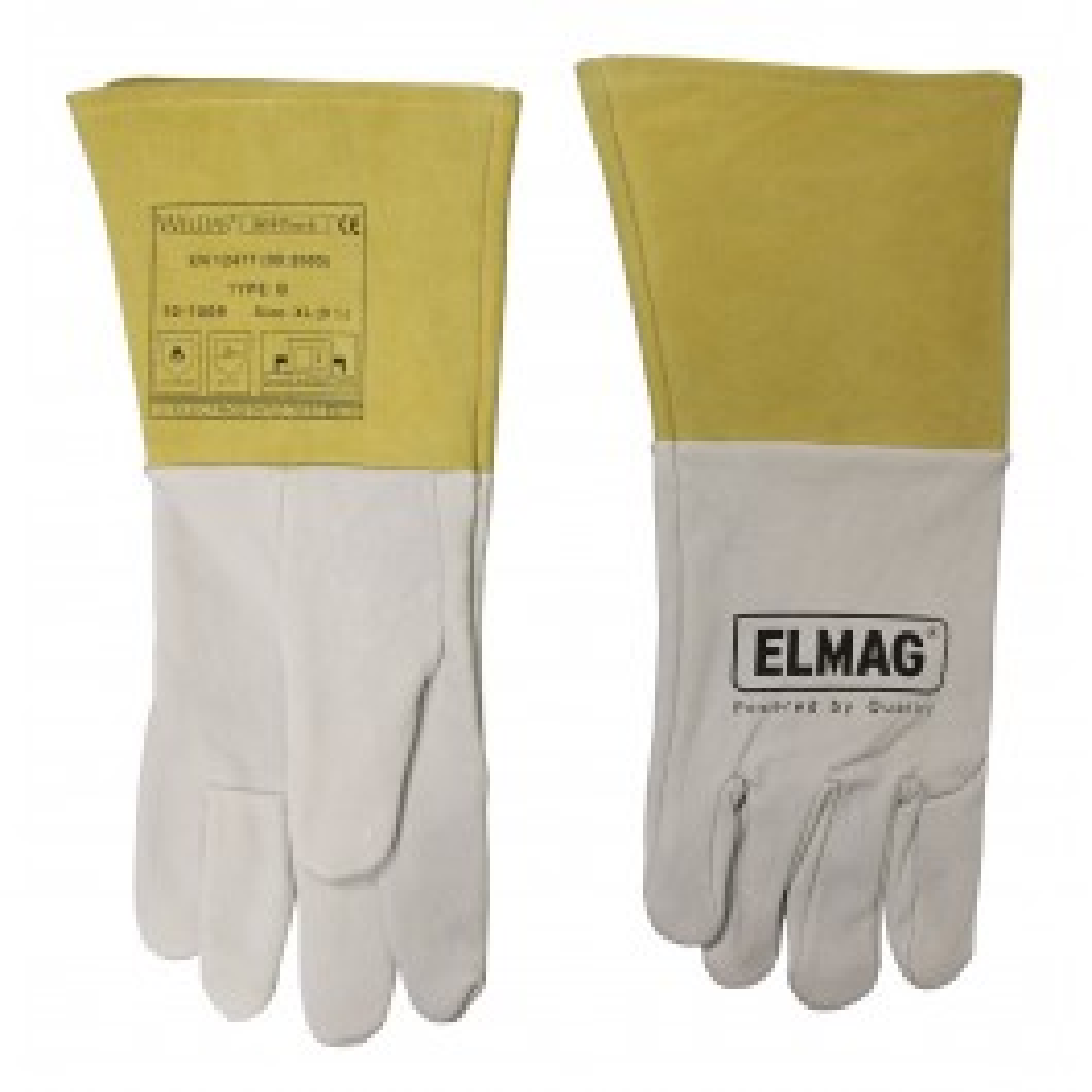 5-Finger-Schweißerhandschuhe WELDAS 10-1009 L